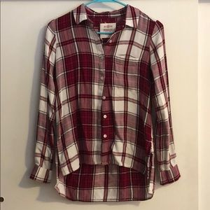 Cute flannel size xsmall so perfect shirt